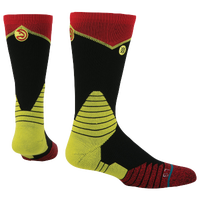Stance NBA On Court Crew Socks - Men's - Atlanta Hawks - Black / Red