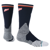 Stance NBA On Court Crew Socks - Men's - Oklahoma City Thunder - Navy / Grey
