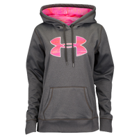 Under Armour Storm Armour Fleece Big Logo Hoodie - Women's - Grey / Pink