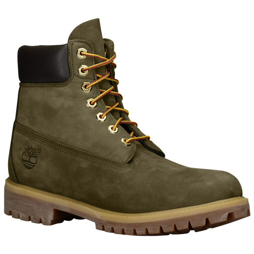 olive green timberland boots with black bottom