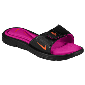 Nike Comfort Slide - Women's - Black/Fireberry/Total Orange