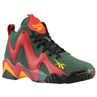 Reebok Kamikaze II Mid - Men's - Dark Green / Red