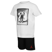 Jordan 3 Piece Woven Set - Boys' Infant - Black / White