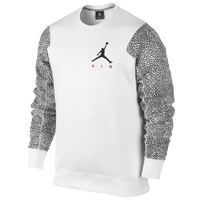 Jordan Ele Sleeve Fleece Crew - Men's - White / Black