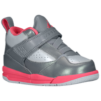 Jordan Flight 45 High - Girls' Toddler - Grey / Silver