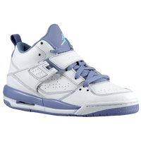Jordan Flight 45 - Girls' Grade School - White / Purple