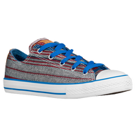 Converse All Star Ox Summer Crafted - Boys' Grade School - Grey / Red