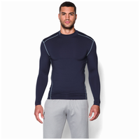 Under Armour Coldgear Armour Compression Mock - Men's - Navy / Grey