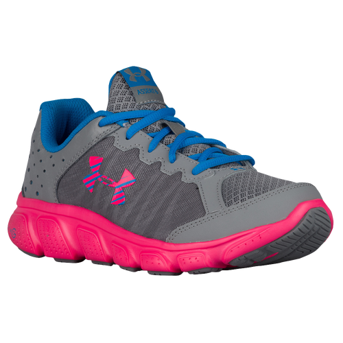 under armour shoes for girls. under armour micro g assert 6 - girls\u0027 grade school running shoes grey/pink/blue for girls u