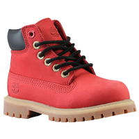 "Timberland 6"" Premium Waterproof Boots - Boys' Toddler - Red / Black"