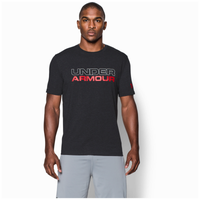 Under Armour Stacked Wordmark Cotton T-Shirt - Men's - Black / White