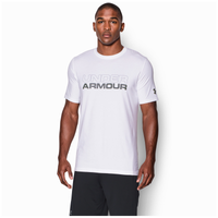 Under Armour Stacked Wordmark Cotton T-Shirt - Men's - White / Grey