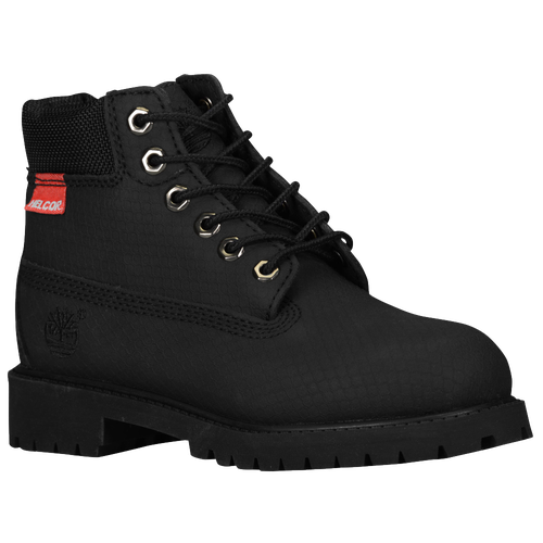black construction boots timberland