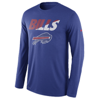 Nike NFL Dri-Fit L/S T-Shirt - Men's - Buffalo Bills - Blue / Red