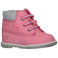 "Timberland 6"" Crib Booties - Girls' Infant - Pink / Grey"