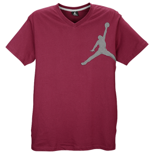 Jordan Graphic Jumpy V-Neck T-Shirt - Men's - Bordeaux/Natural
