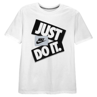 Nike Graphic T-Shirt - Men's - White / Silver