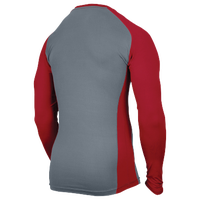 Eastbay EVAPOR Baseball Compression Top - Men's - Grey / Red