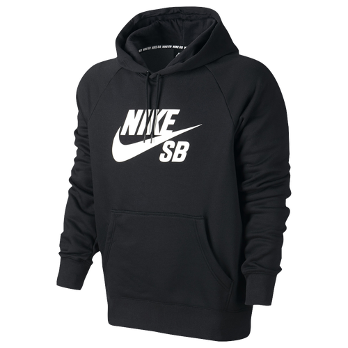 Nike SB Icon Pullover Hoodie - Men's - Black / White