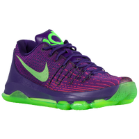 Nike KD 8 - Boys' Grade School - Purple / Light Green