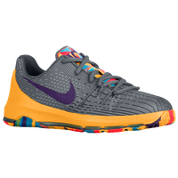 Nike KD 8 - Boys' Preschool -  Kevin Durant - Grey / Purple