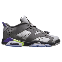 Jordan Retro 6 Low - Girls' Grade School - Grey / Purple