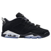 Jordan Retro 6 Low - Boys' Grade School - Black / Silver
