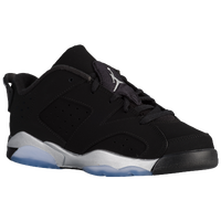 Jordan Retro 6 Low - Boys' Preschool - Black / Silver