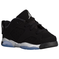 Jordan Retro 6 Low - Boys' Toddler - Black / Silver