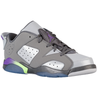 Jordan Retro 6 Low - Girls' Preschool - Grey / Purple