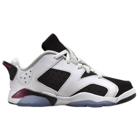 Jordan Retro 6 Low - Girls' Preschool - White / Black