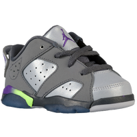 Jordan Retro 6 Low - Girls' Toddler - Grey / Purple