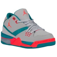 Jordan Flight 23 - Girls' Grade School - Grey / Red