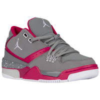 Jordan Flight 23 - Girls' Grade School - Grey / Pink