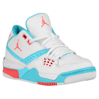 Jordan Flight 23 - Girls' Grade School - White / Red