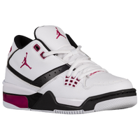 Jordan Flight 23 - Girls' Grade School - White / Pink