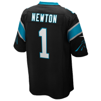 Nike NFL Game Day Jersey - Men's -  Cam Newton - Carolina Panthers - Black / Aqua