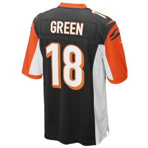 Nike NFL Game Day Jersey - Men's - Green, Aj - Cincinnati Bengals - Black