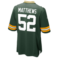 Nike NFL Game Day Jersey - Men's -  Clay Matthews - Green Bay Packers - Dark Green / Gold
