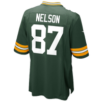 Nike NFL Game Day Jersey - Men's - Green Bay Packers - Dark Green / White