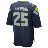 Nike NFL Game Day Jersey - Men's -  Richard Sherman - Seattle Seahawks - Navy / Grey