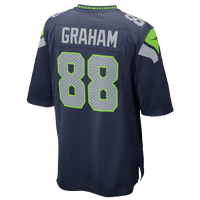 Nike NFL Game Day Jersey - Men's -  Jimmy Graham - Seattle Seahawks - Navy / Grey