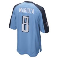 Nike NFL Game Day Jersey - Men's -  Marcus Mariota - Tennessee Titans - Light Blue / Navy