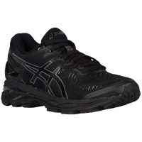 solid black asics shoes