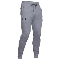 Under Armour Rival Cotton Fleece Jogger Pants - Men's - Grey / Grey