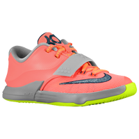 Nike KD VII - Boys' Preschool - Orange / Grey