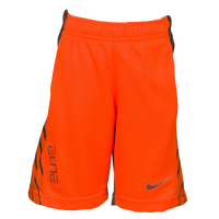 Nike Elite Powerup Shorts - Boys' Preschool - Orange / Grey