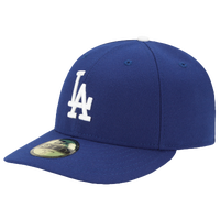 New Era MLB 59Fifty Low Crown Authentic Cap - Men's - Los Angeles Dodgers - Blue / White