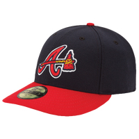 New Era MLB 59Fifty Low Crown Authentic Cap - Men's - Atlanta Braves - Navy / Red