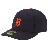 New Era MLB 59Fifty Low Crown Authentic Cap - Men's - Detroit Tigers - Navy / Orange